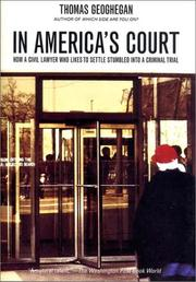 Cover of: In America's Court