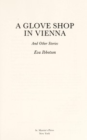 Cover of: A glove shop in Vienna and other stories
