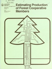 Cover of: Estimating production of forest cooperative members