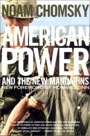 Cover of: American power and the new mandarins