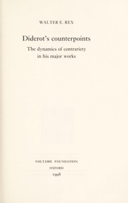 Cover of: Diderot's counterpoints