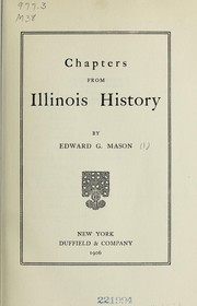 Cover of: Chapters from Illinois history
