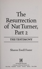Cover of: The resurrection of Nat Turner, part 2