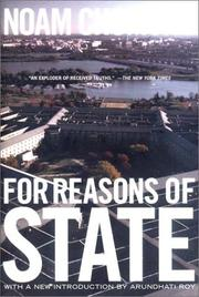 Cover of: For reasons of state