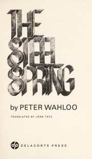 Cover of: The steel spring | Per Wahlöö