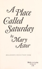 Cover of: A place called Saturday