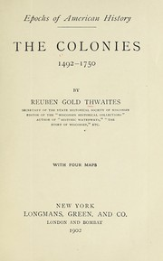 Cover of: The colonies, 1492-1750
