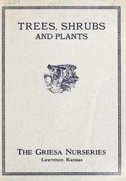 Cover of: Trees, shrubs and plants | Griesa Nurseries