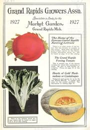 Cover of: Grand Rapids Growers Assn., specialists in seeds for the market garden | Grand Rapids Growers Association