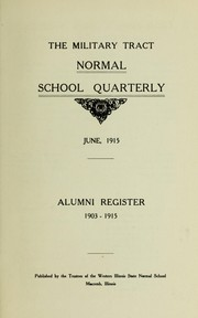Cover of: Alumni register 1903-1915