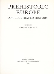 Cover of: Prehistoric Europe : an illustrated history |