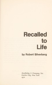 Cover of: Recalled to life