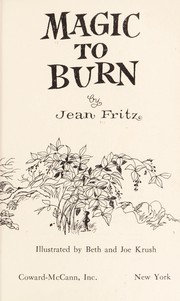 Cover of: Magic to Burn