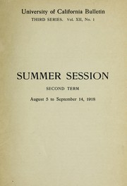 Cover of: Summer session second term