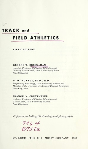 Track and field athletics (1960 edition) | Open Library