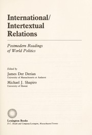 Cover of: International/intertextual relations |
