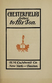 Cover of: Chesterfield's letters to his son