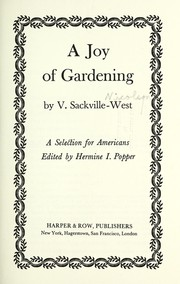 Cover of: Joy of Gardening: a selection for Americans