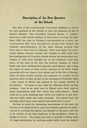 Cover of: Description of the new quarters of the school | Northwestern University (Evanston, Ill.). School of Law