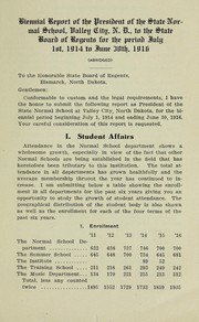 Cover of: Containing Biennial report of the president of the State Normal School, Valley City, N.D. to the State Board of Regents | State Normal School (Valley City, N.D.)