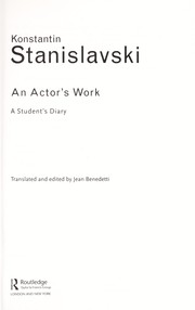 Cover of: An actor's work