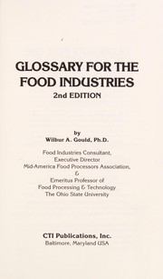 Cover of: Glossary for the food industries