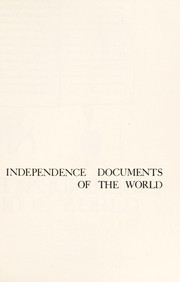Cover of: Independence documents of the world | Albert P. Blaustein