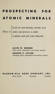 Cover of: Prospecting for atomic minerals