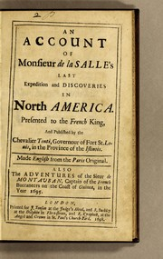 Cover of: An account of Monsieur de La Salle