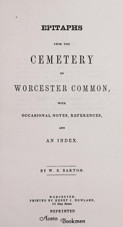 Cover of: Epitaphs from the cemetery on Worcester Common