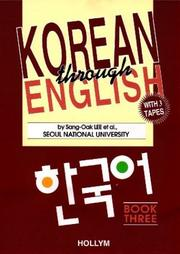 Cover of: Korean Through English Book & Tape 3 | Hollym