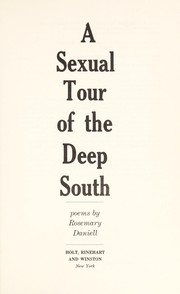 Cover of: A sexual tour of the Deep South