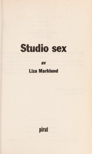 Cover of: Studio sex