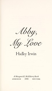 Cover of: Abby, my love