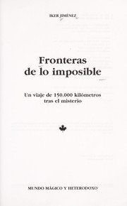 Cover of: Fronteras de lo imposible