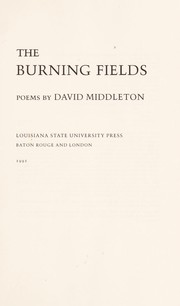 Cover of: The burning fields