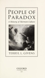 Cover of: People of paradox | Terryl Givens