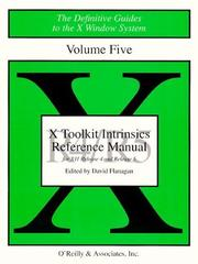 Cover of: X Toolkit Intrinsics Ref Man R5 (Definitive Guides to the X Window System)