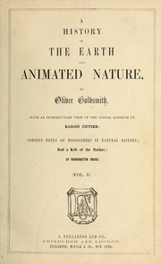 Cover of: A history of the earth and animated nature