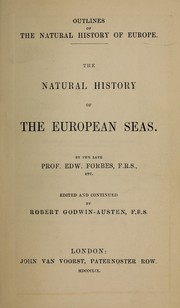 Cover of: The natural history of the European seas