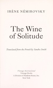 Cover of: The wine of solitude