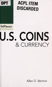 Cover of: U.S. coins & currency : Warman's companion |