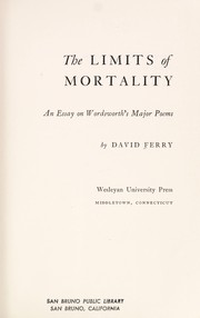Cover of: The limits of mortality