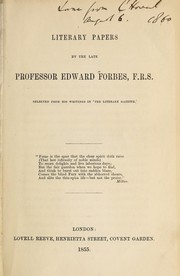 Cover of: Literary papers by the late Professor Edward Forbes