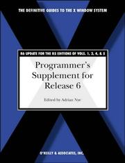 Cover of: Programmer's supplement for release 6 of the X Window System, version 11