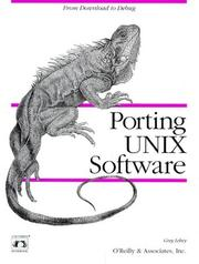Cover of: Porting UNIX software