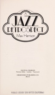 Cover of: A jazz retrospect