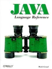 Cover of: Java language reference