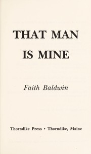 Cover of: That man is mine