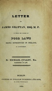 Cover of: A letter to James Grattan, Esq. M. P. | Michael Cullen